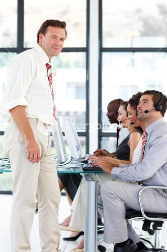 Senior manager in a call center