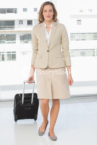 Beautiful businesswoman on a business trip
