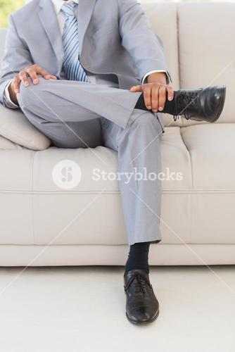 Businessman on couch