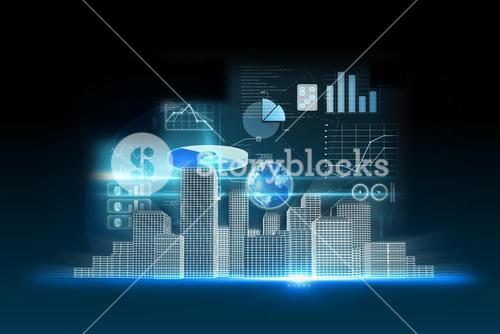Business data background