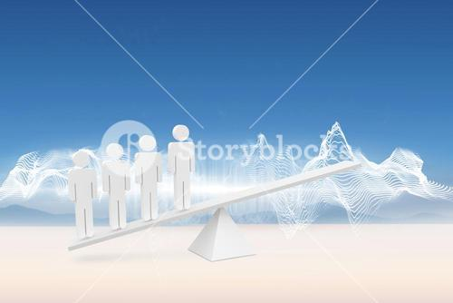White human resource scales in desert