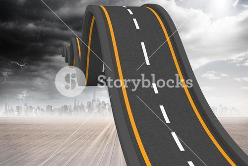 Bumpy road backdrop