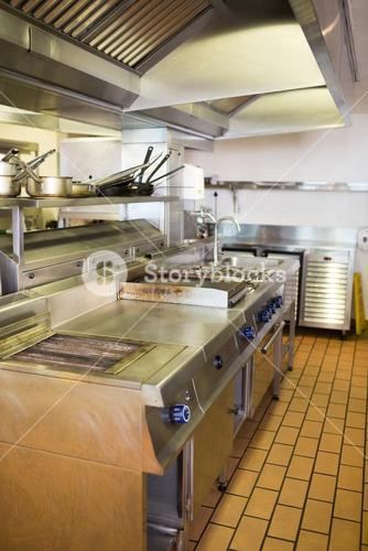 Kitchen in the restaurant