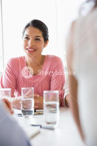 Bbusinesswoman discussing in conference meeting