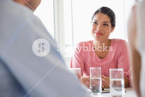Businesswoman in conference meeting