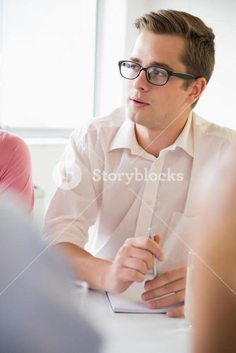 Businessman discussing in conference meeting
