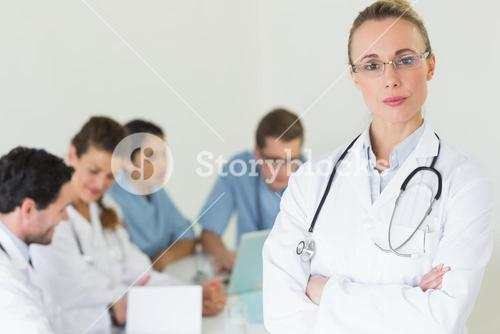 Confident professional doctor