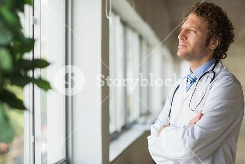 Thoughtful male doctor