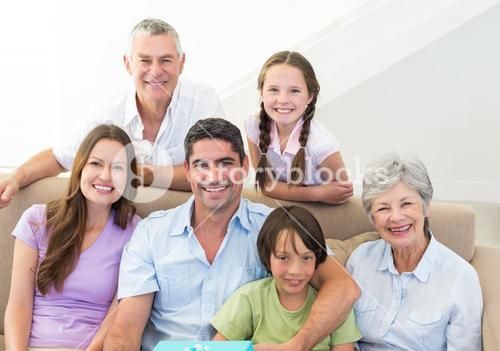 Smiling multigeneration family
