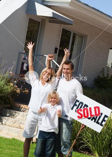 A family buying a house