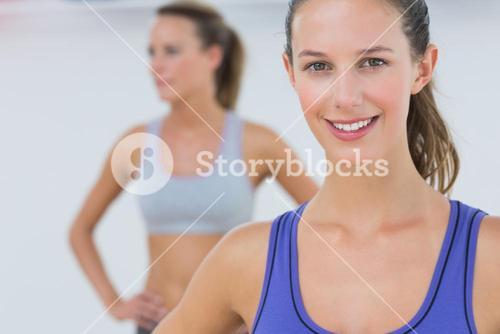 Portrait of fit young women in sports bra