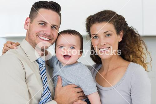 Parents with adorable baby boy