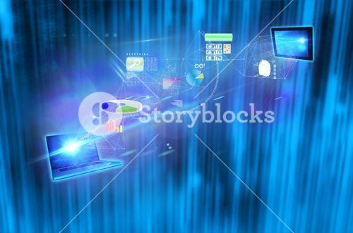 Composite image of file transfer background