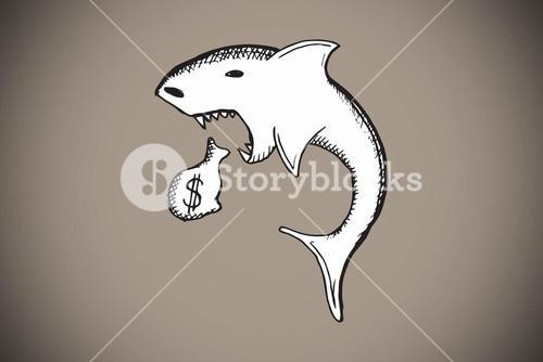 Composite image of loan shark doodle