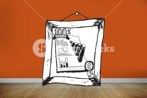 Composite image of data analysis doodle in frame