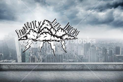 Composite image of bankruptcy doodle
