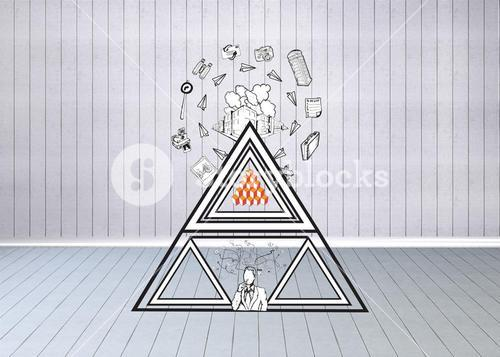 Composite image of abstract business doodles
