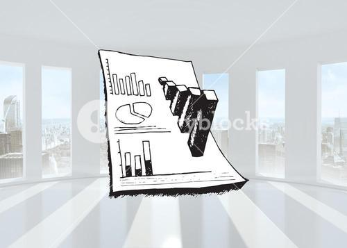 Composite image of data analysis doodle