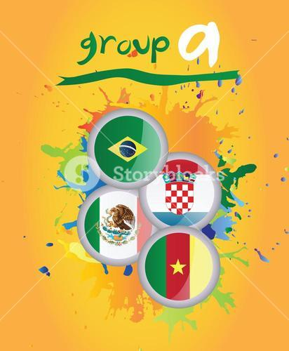 World cup group a vector