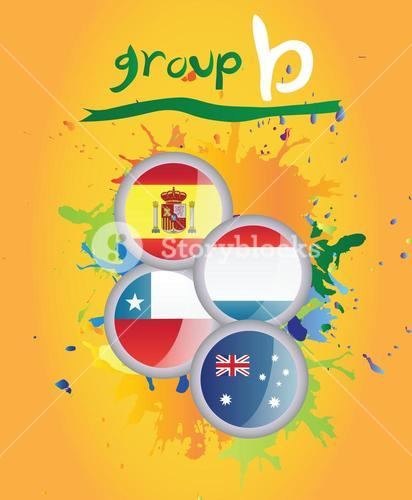 World cup group b vector