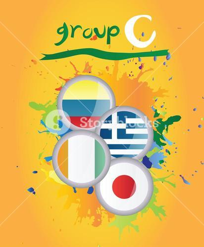 World cup group c vector