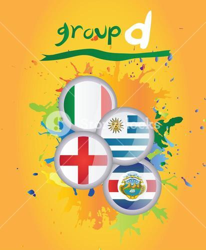 World cup group d vector