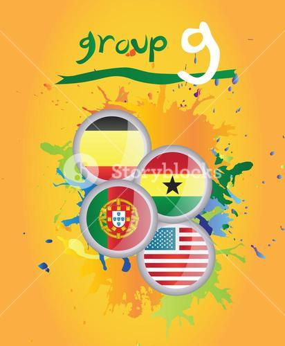 World cup group g vector
