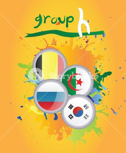 World cup group h vector