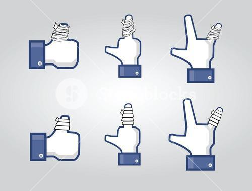 Social network thumbs with plasters