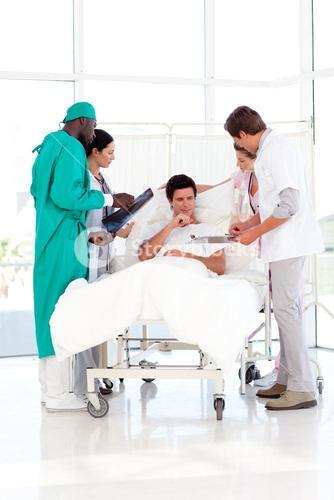 Doctor explaining the results to his patient