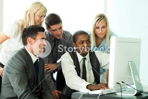 Business team working in office