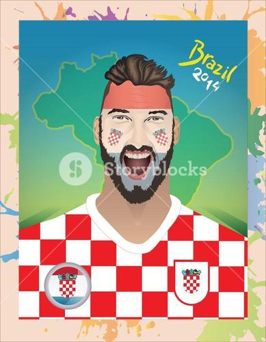 Croatia football fan