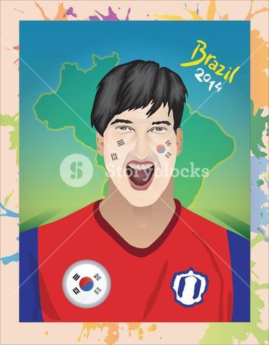 South korea football fan