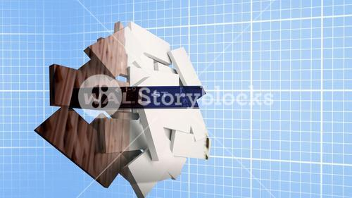 Composite image of wall street on abstract screen