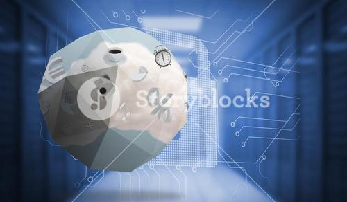 Composite image of cloud computing graphic on abstract screen
