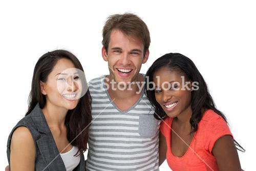 Portrait of happy casual young people
