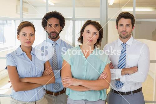 Portrait of serious business people in office