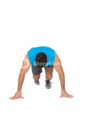 Determined young man doing push ups