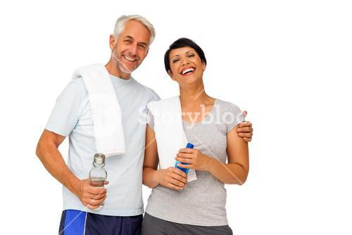 Portrait of a happy fit couple