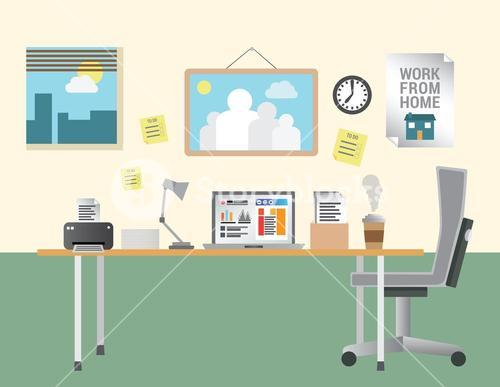 Working from home vector
