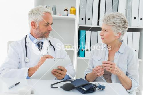 Senior woman visiting doctor
