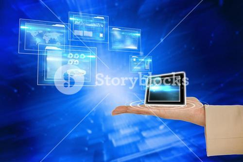 Hand presenting tablet and interfaces