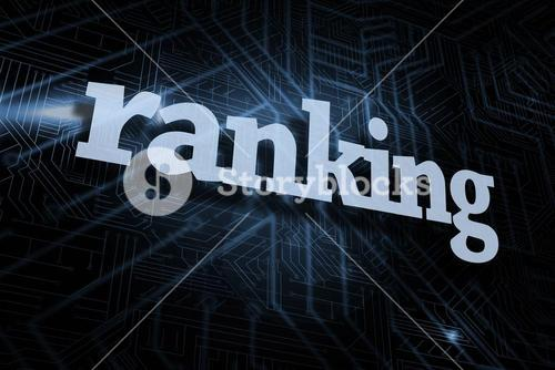 Ranking against futuristic black and blue background