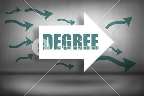 Degree against arrows pointing