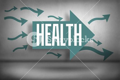 Health against arrows pointing