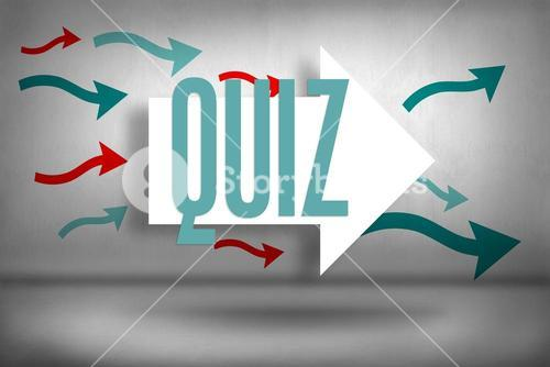 Quiz against arrows pointing