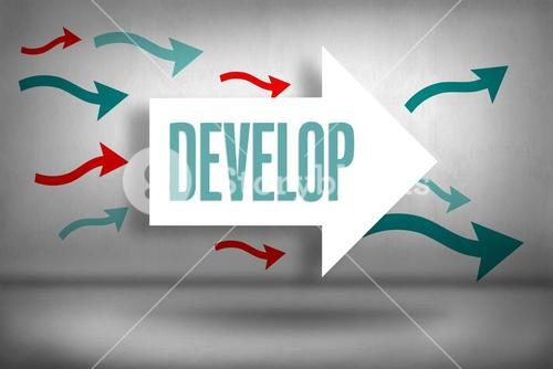Develop against arrows pointing