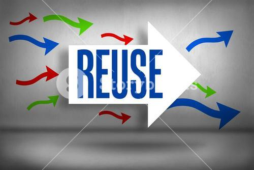 Reuse against arrows pointing