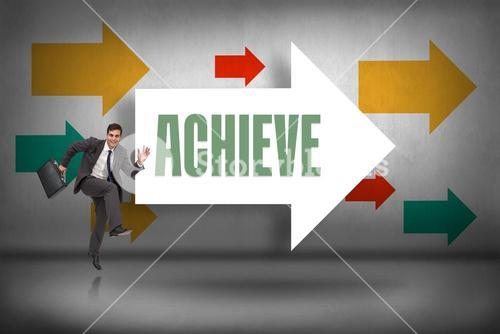 Achieve against arrows pointing