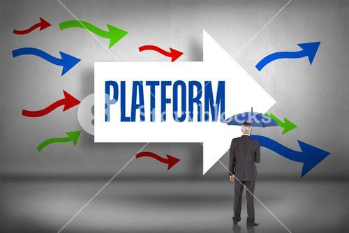 Platform against arrows pointing